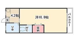 ユウコーポ[202号室]の間取り