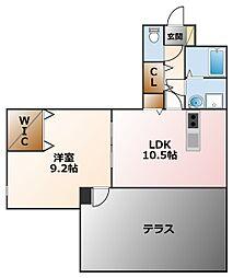コロナール甲子園[2階]の間取り
