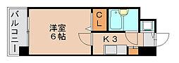ラレジダンスド福岡県庁前[5階]の間取り