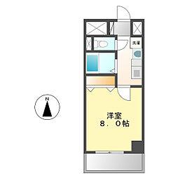 シャルム稲塚[1階]の間取り