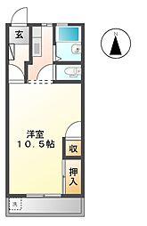 ハイムブトウジゅ[2階]の間取り