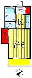 武田コーポ[103号室]の間取り