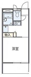 神奈川県川崎市中原区宮内4丁目の賃貸アパートの間取り