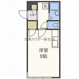 北海道札幌市北区麻生町6の賃貸マンションの間取り
