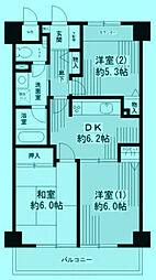 パークヒルズ鷺沼弐番館[5階]の間取り