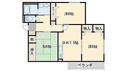 ハイツ吉場[1階]の間取り
