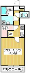 ソシア戸田公園[208号室]の間取り