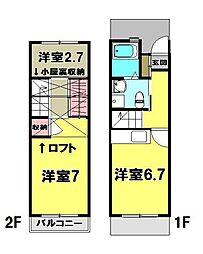 [テラスハウス] 東京都青梅市野上町3丁目 の賃貸【東京都 / 青梅市】の間取り
