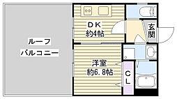 大阪府大阪市鶴見区横堤4丁目の賃貸マンションの間取り