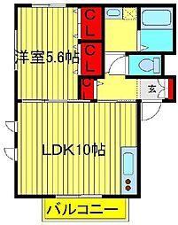 シャルムガーデン1 2棟[2-202号室]の間取り