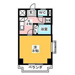 シャトー横山弐番館[6階]の間取り