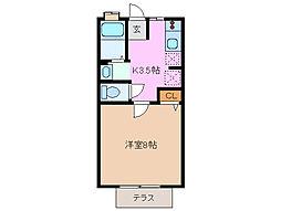 内田アパート[1階]の間取り