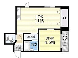 ルエーテ20 3階1LDKの間取り