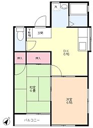 朝霞 賃貸アパート コーポ東 田島[1階]の間取り