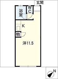 ヤングコーポ[1階]の間取り