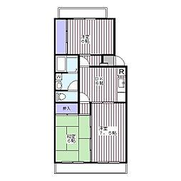 神野マンション[2階]の間取り