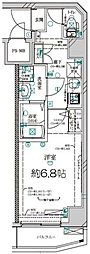 京急本線 南太田駅 徒歩5分の賃貸マンション 6階1Kの間取り