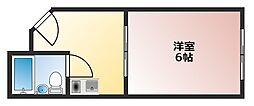 チュリス西田辺[2階]の間取り