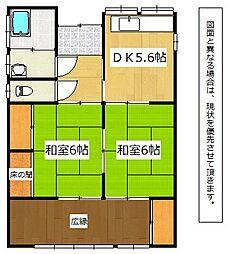 [一戸建] 福岡県中間市東中間3丁目 の賃貸【福岡県 / 中間市】の間取り