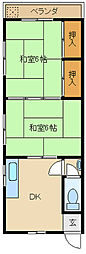 [一戸建] 兵庫県尼崎市大庄中通5丁目 の賃貸【/】の間取り