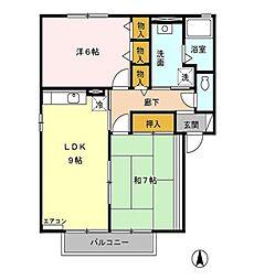 ローレルコートII[2階]の間取り