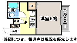 京都府京都市上京区上生洲町の賃貸マンションの間取り