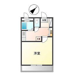 JINハイツ生桑[1階]の間取り