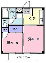 サカエハイツ[1階]の間取り