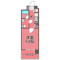 スパシエカステール横浜吉野町[2階]の間取り