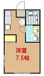 神奈川県秦野市曽屋の賃貸アパートの間取り