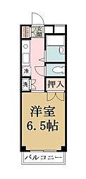 モデーロ花栗[206号室]の間取り