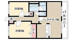 愛知県名古屋市守山区鼓が丘2丁目の賃貸マンションの間取り