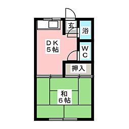 パーク八田[2階]の間取り