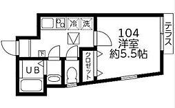 DSコート・21[104号室]の間取り
