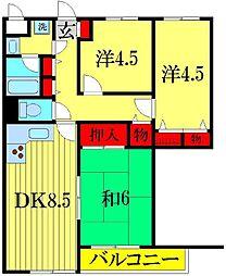 ライオンズマンション柴又第3[3階]の間取り