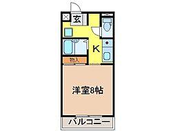 静岡県富士市宮島の賃貸マンションの間取り