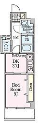 Park Liturin Sangubashi 3階1DKの間取り