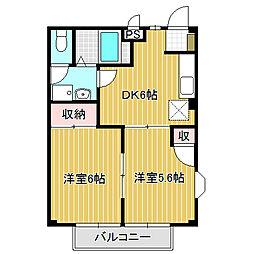 愛知県名古屋市中川区草平町1丁目の賃貸アパートの間取り