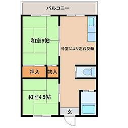 兵庫県尼崎市南清水の賃貸マンションの間取り
