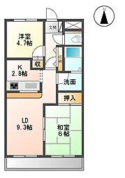 シャトーメゾン[3階]の間取り