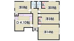 サドワニマンション[1階]の間取り