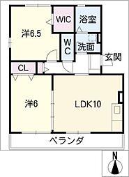 コレフォート幸田[2階]の間取り