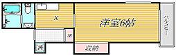 東京都墨田区東向島6丁目の賃貸アパートの間取り