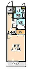 千葉県松戸市殿平賀の賃貸アパートの間取り