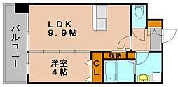 ASレジデンス博多駅南[4階]の間取り
