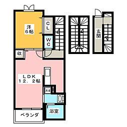 メゾンジャストB[3階]の間取り