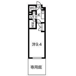 名古屋市営東山線 東山公園駅 徒歩4分の賃貸マンション 1階1Kの間取り