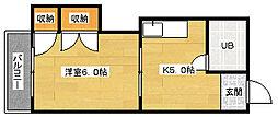 田村ビル[407号室]の間取り