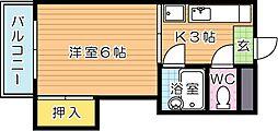 シャトレ永犬丸[1階]の間取り