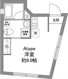 京王線 上北沢駅 徒歩6分の賃貸マンション 1階ワンルームの間取り